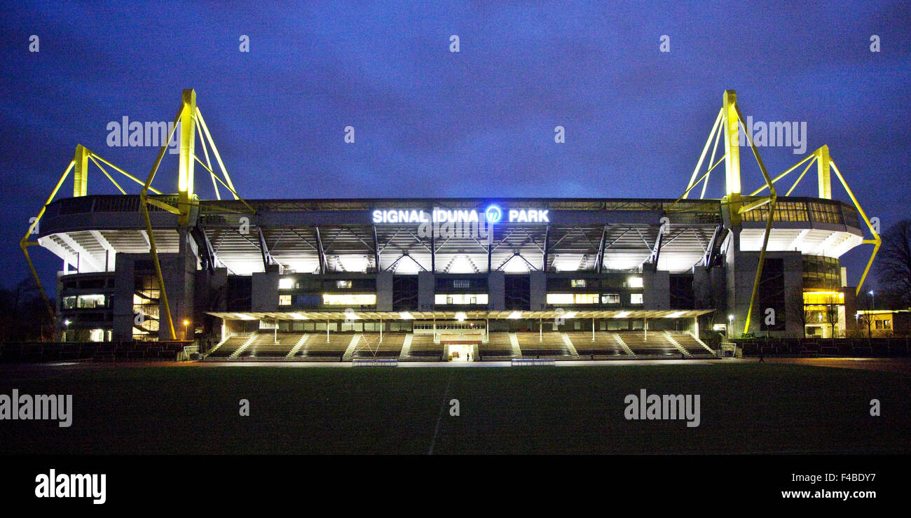 Soccer stadium of Borussia Dortmund, Germany. - Stock Image