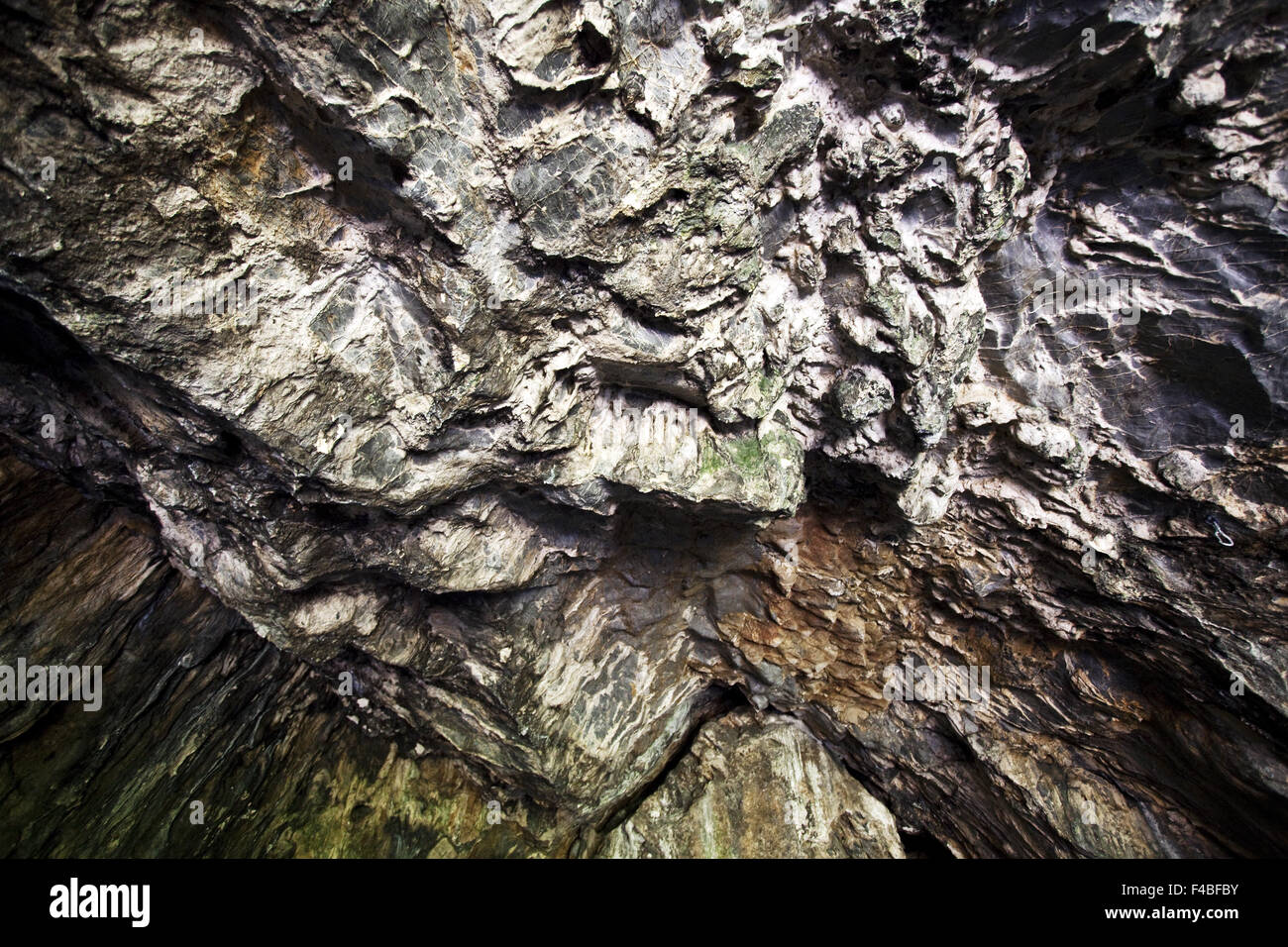 the cave 'Hohler Stein', Ruethen, Germany - Stock Image