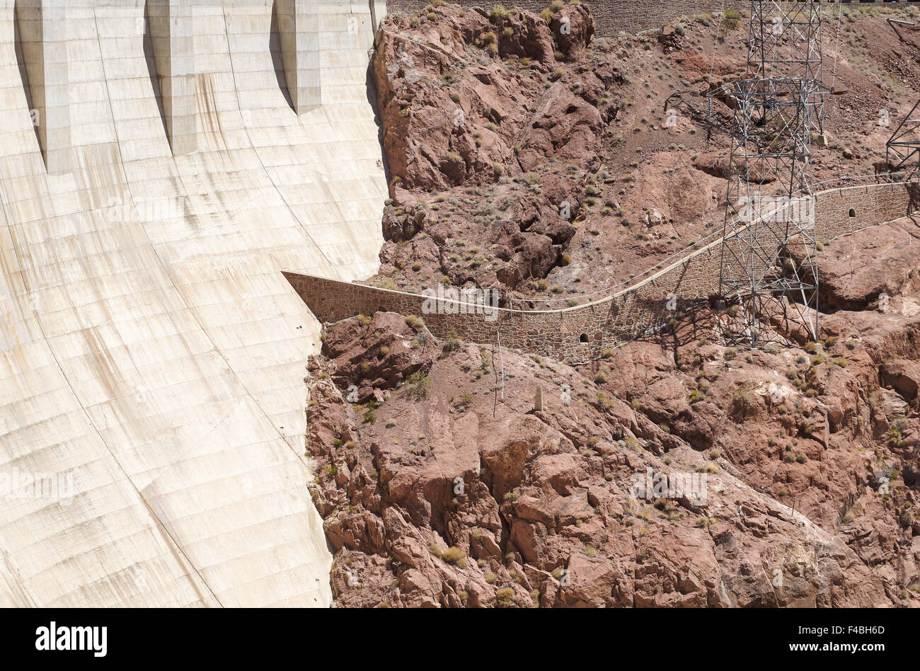 Hoover Dam in Black Canyon Stock Photo