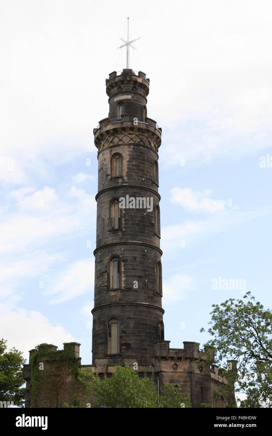 The Nelson Monument on Calton Hill in Edinburgh, Scotland. Stock Photo