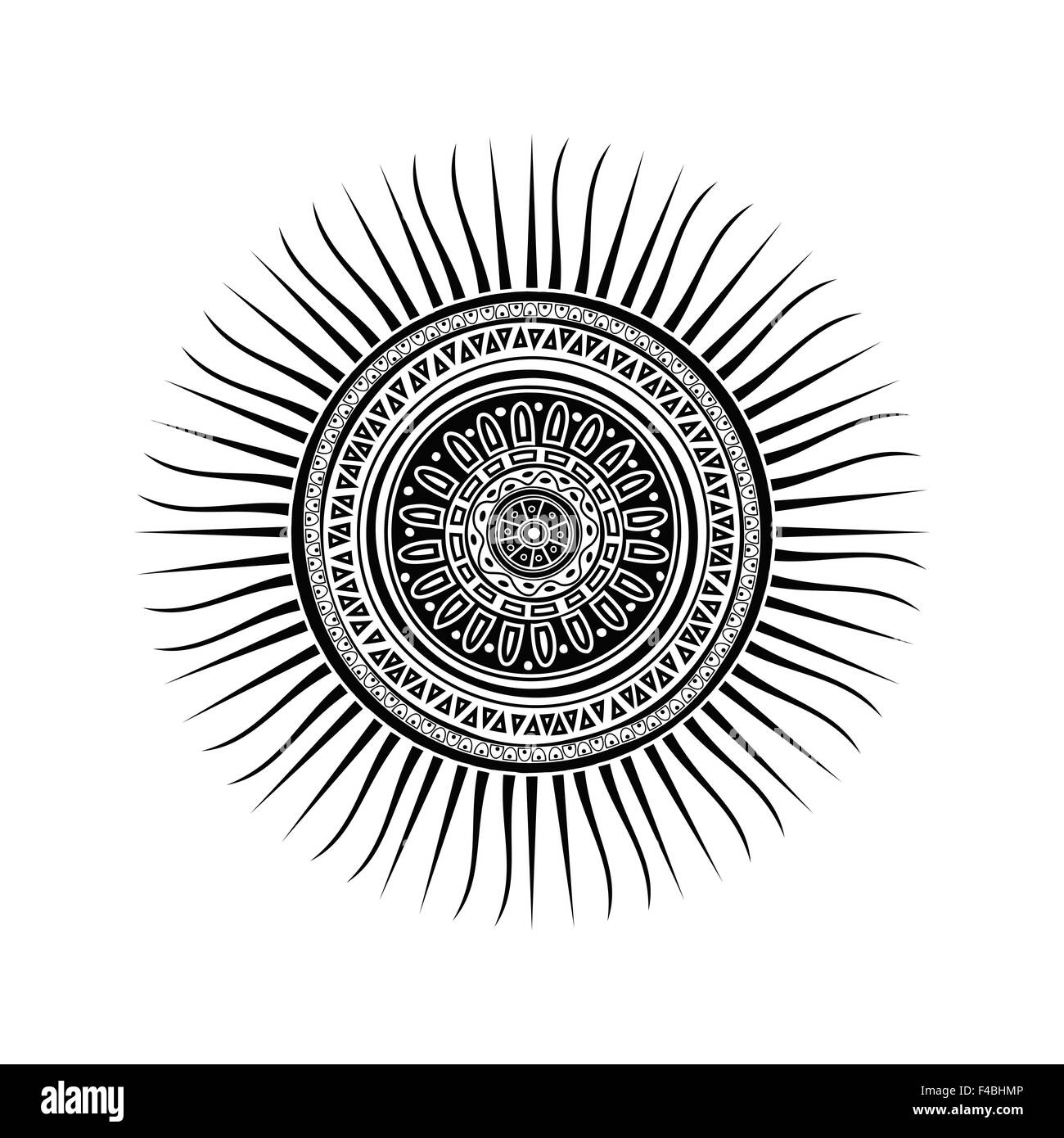 Mayan Sun Symbol Stock Photo 88765846 Alamy