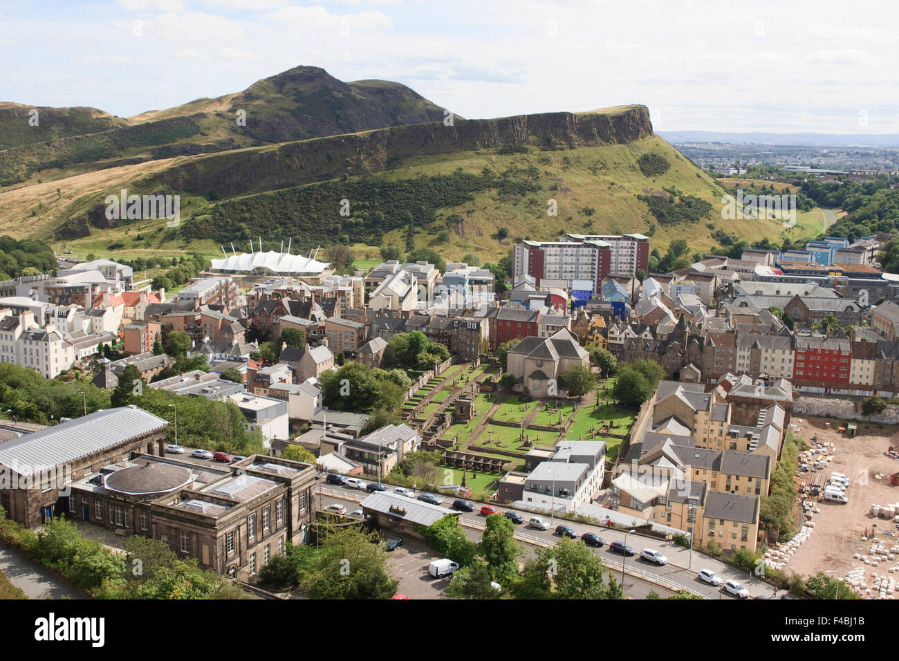 View from the Nelson Monument in Edinburgh, Scotland. Stock Photo