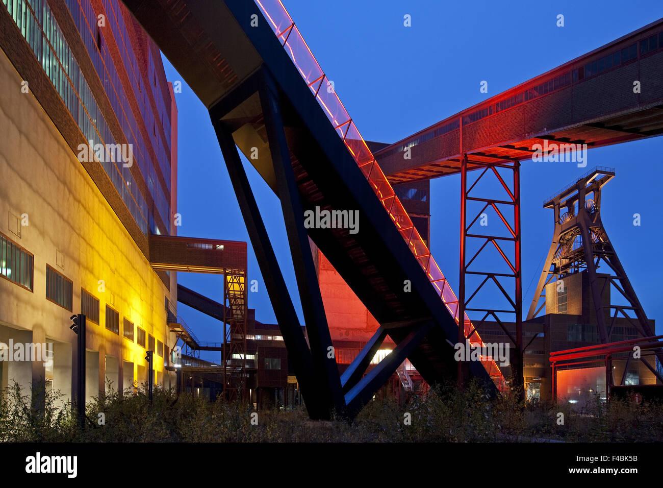 Zollverein with headframe, Essen, Germany. - Stock Image