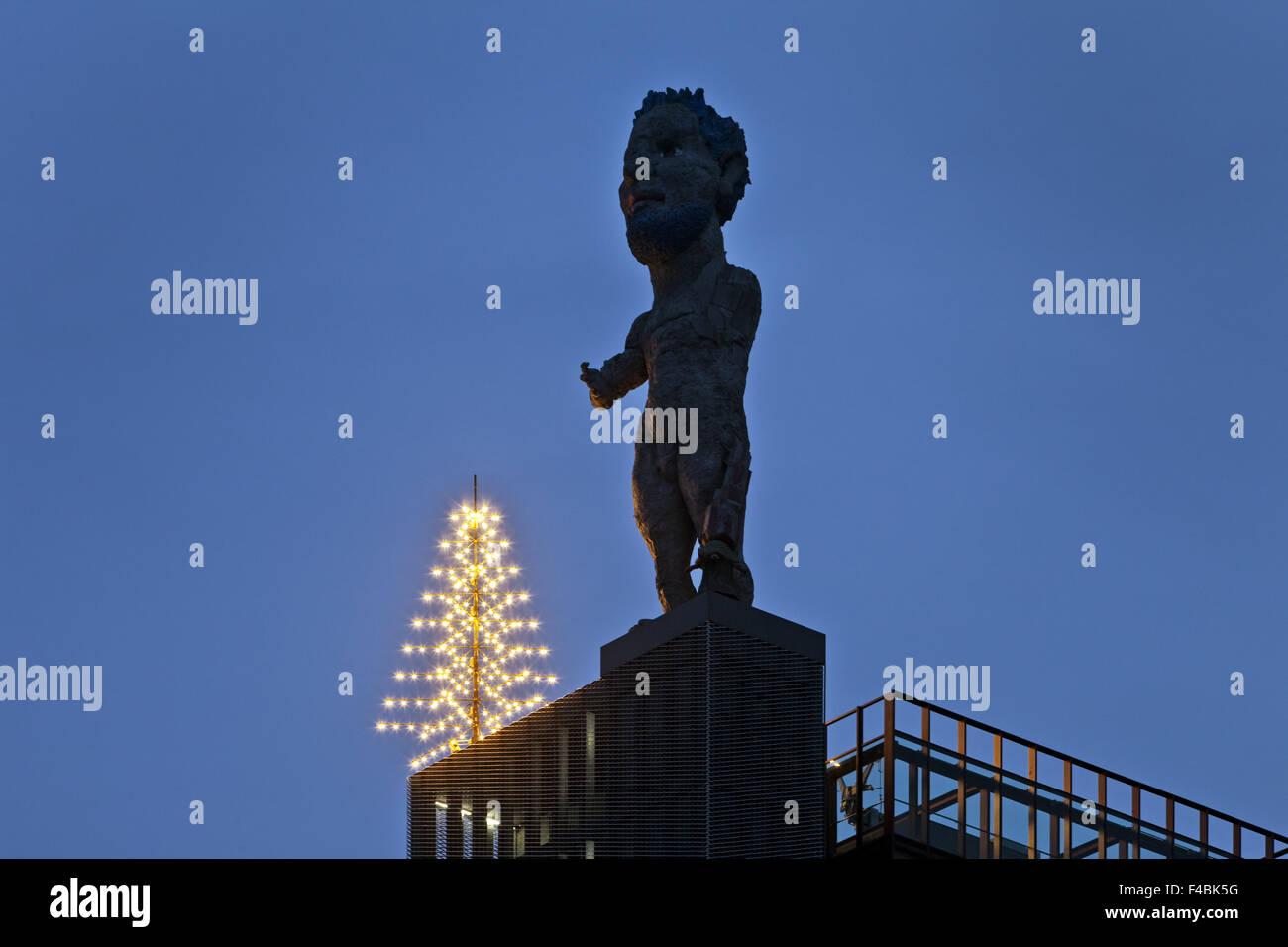 Artwork Hercules, Gelsenkirchen, Germany. - Stock Image