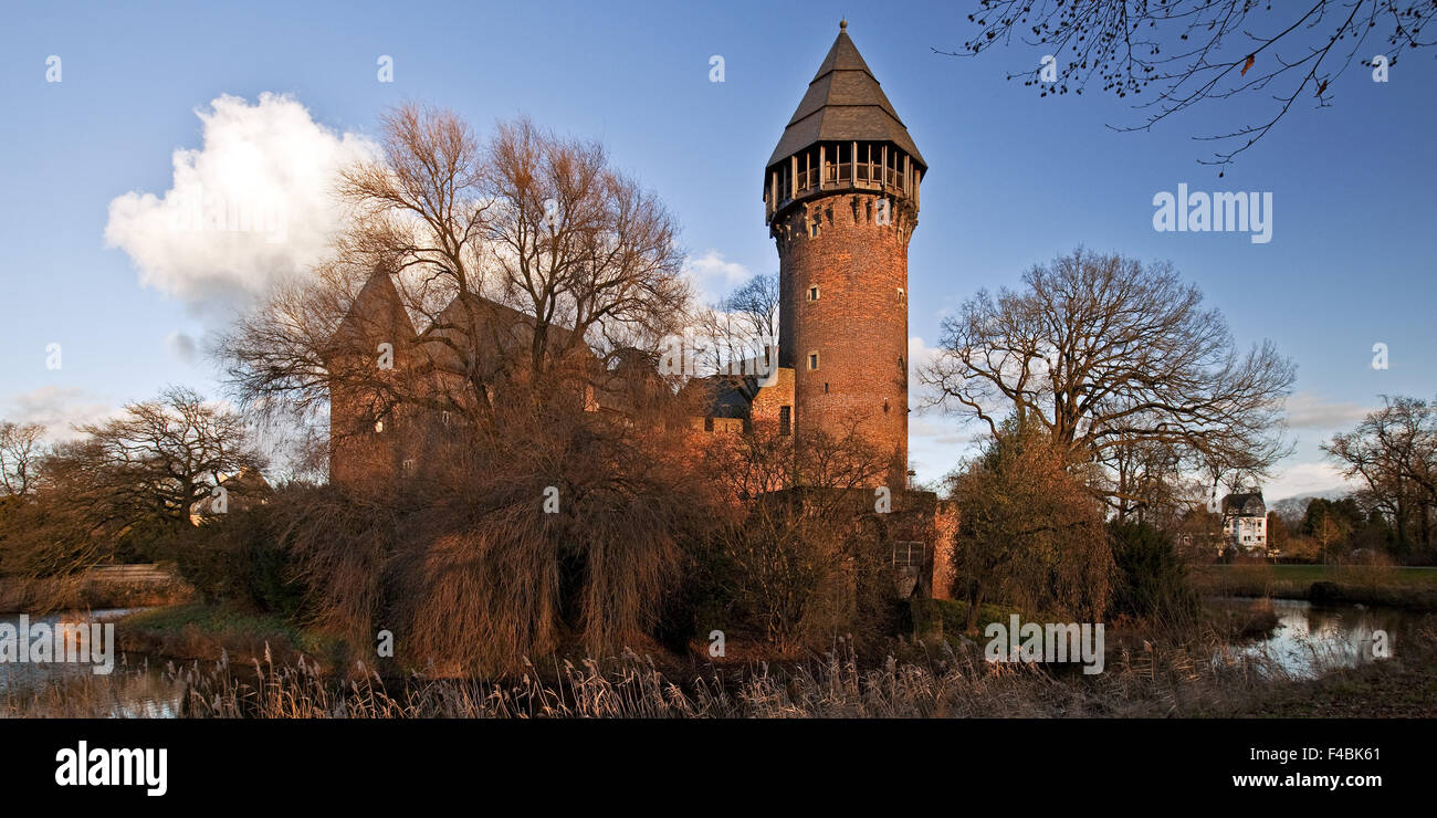 Linn Castle, Krefeld, Germany. - Stock Image