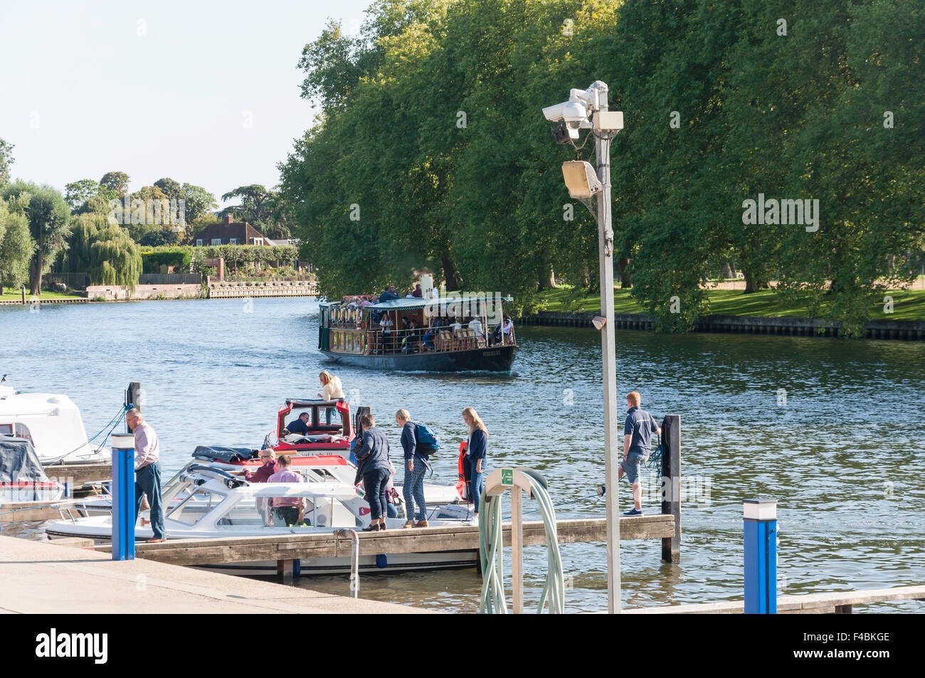 The River Thames waterfront marina (Kriss Cruises), Southlea Road, Datchet, Berkshire, England, United Kingdom - Stock Image