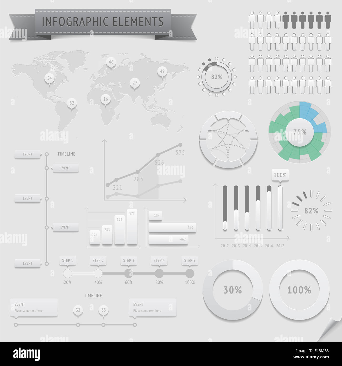 Infographic design elements - Stock Image