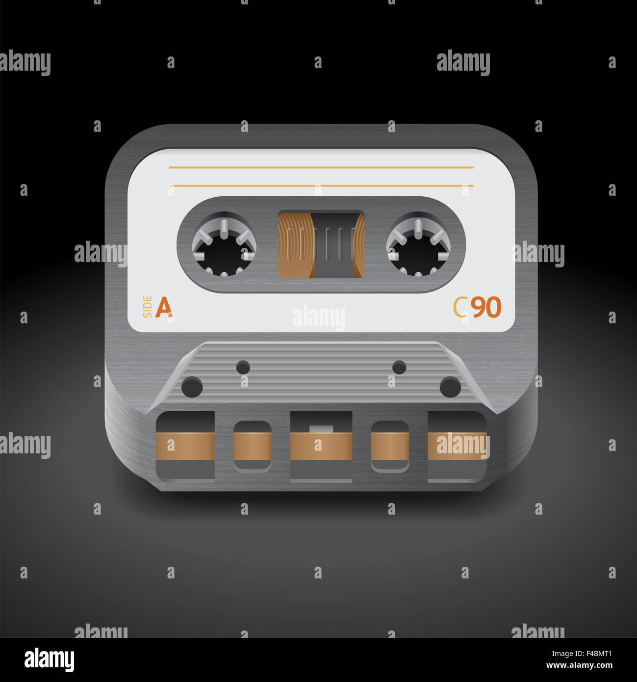 Icon for audio cassette - Stock Image