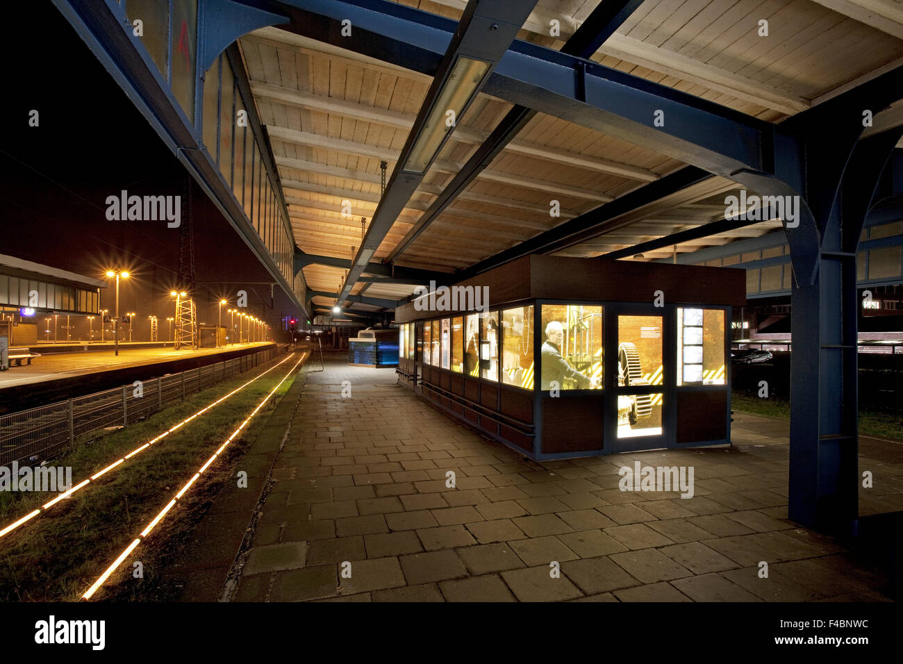 Museum platform Oberhausen central station. - Stock Image
