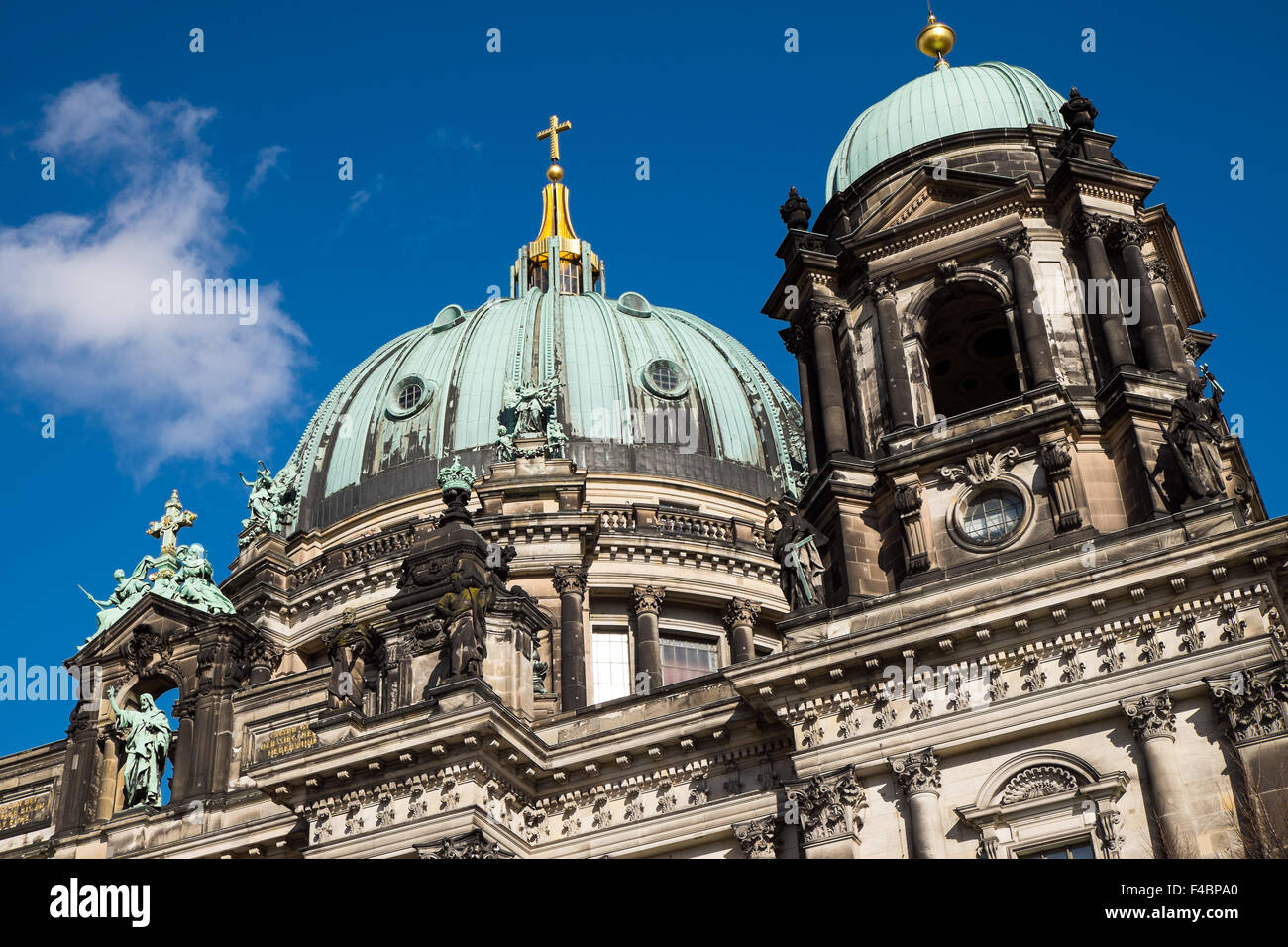 Detail of the dom in Berlin Stock Photo