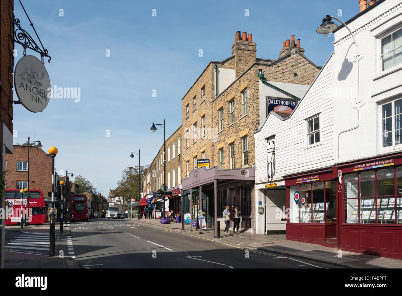 High Street, Highgate Village, Highgate, London Borough of Haringey, Greater London, England, United Kingdom - Stock Image
