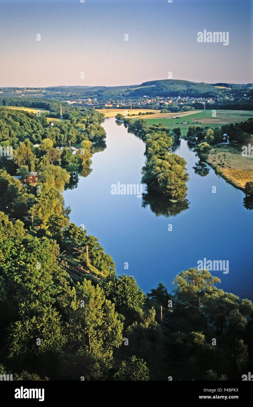 The river Ruhr, Witten, Germany Stock Photo