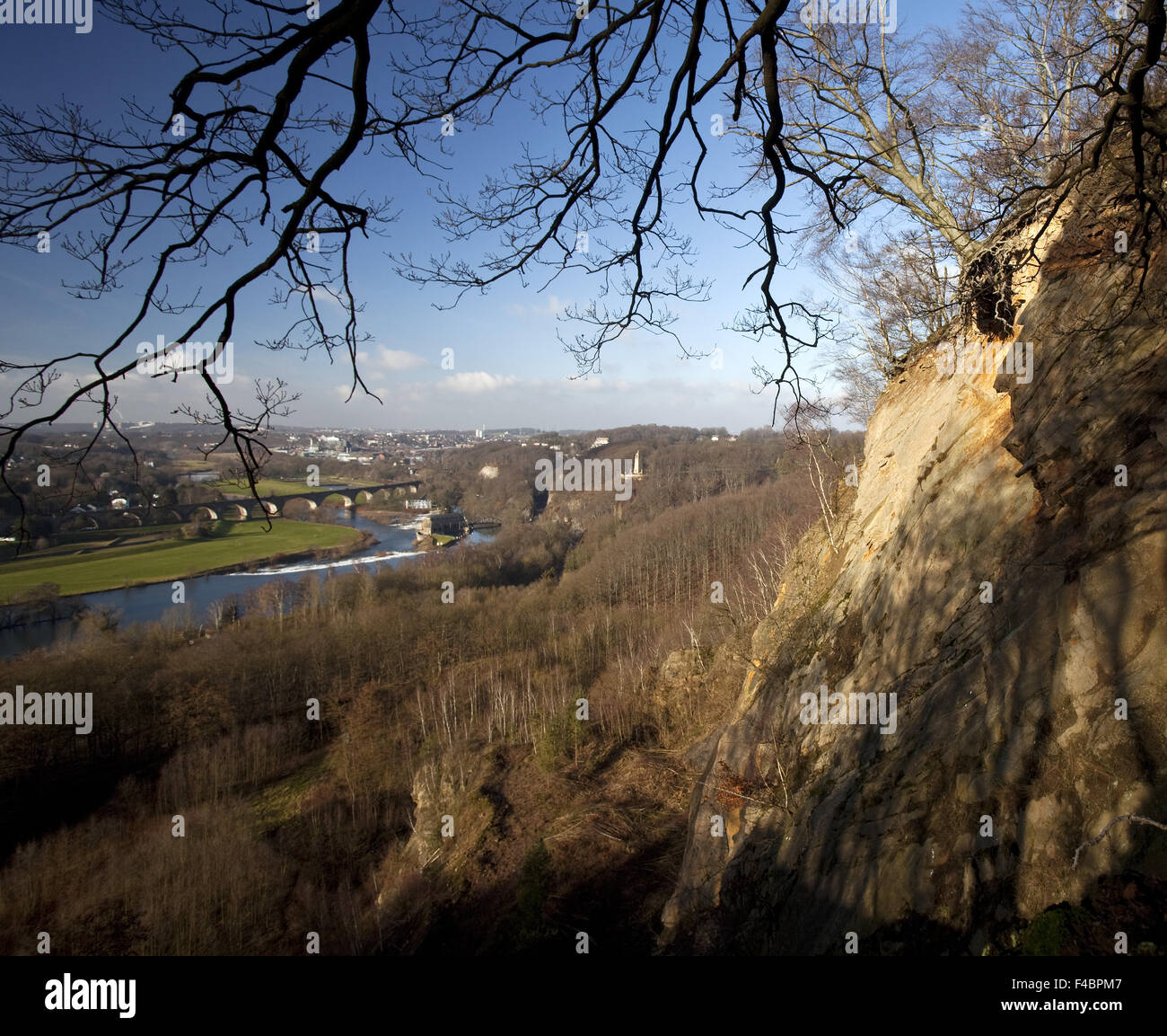 Ruhr Valley in winter, Germany - Stock Image