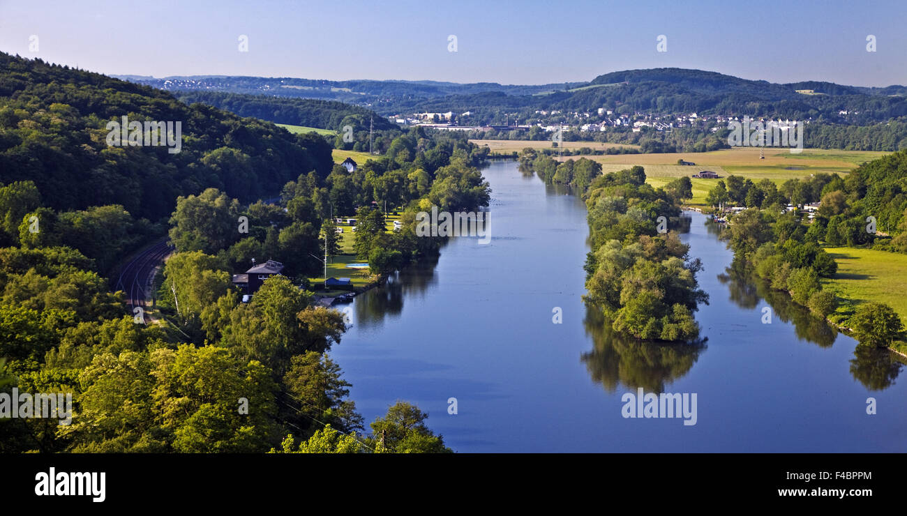 The river Ruhr, Witten, Germany - Stock Image
