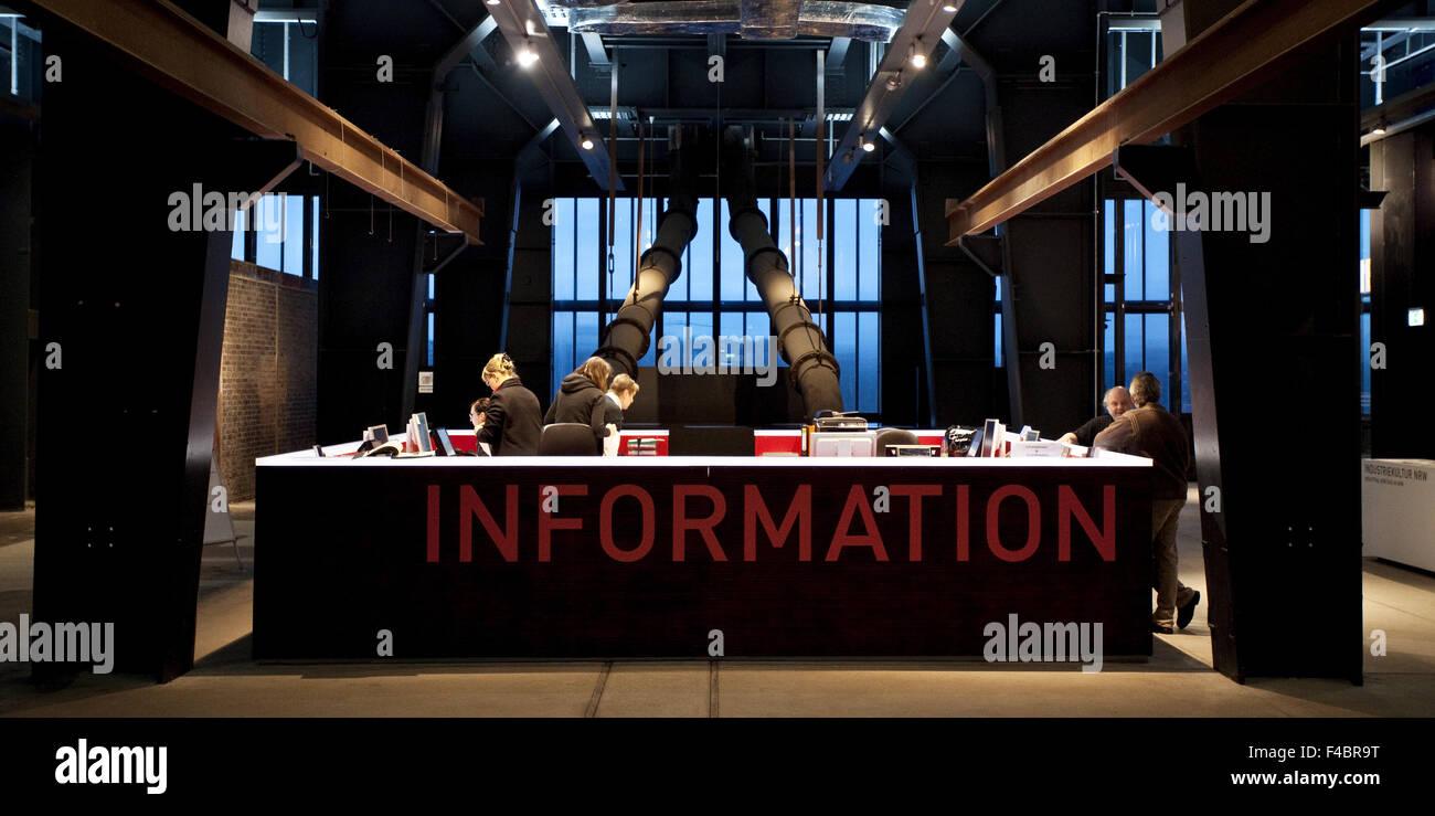 Info Counter, Zollverein, Essen, Germany - Stock Image