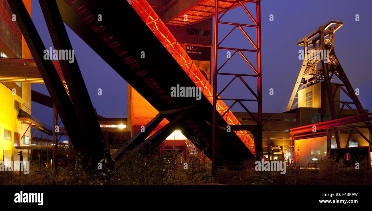 Zollverein with headframe, Essen, Germany - Stock Image