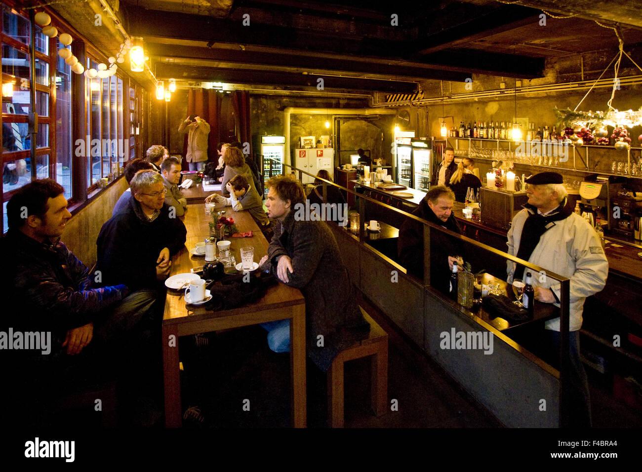 Cafe, Zollverein, Essen, Germany - Stock Image