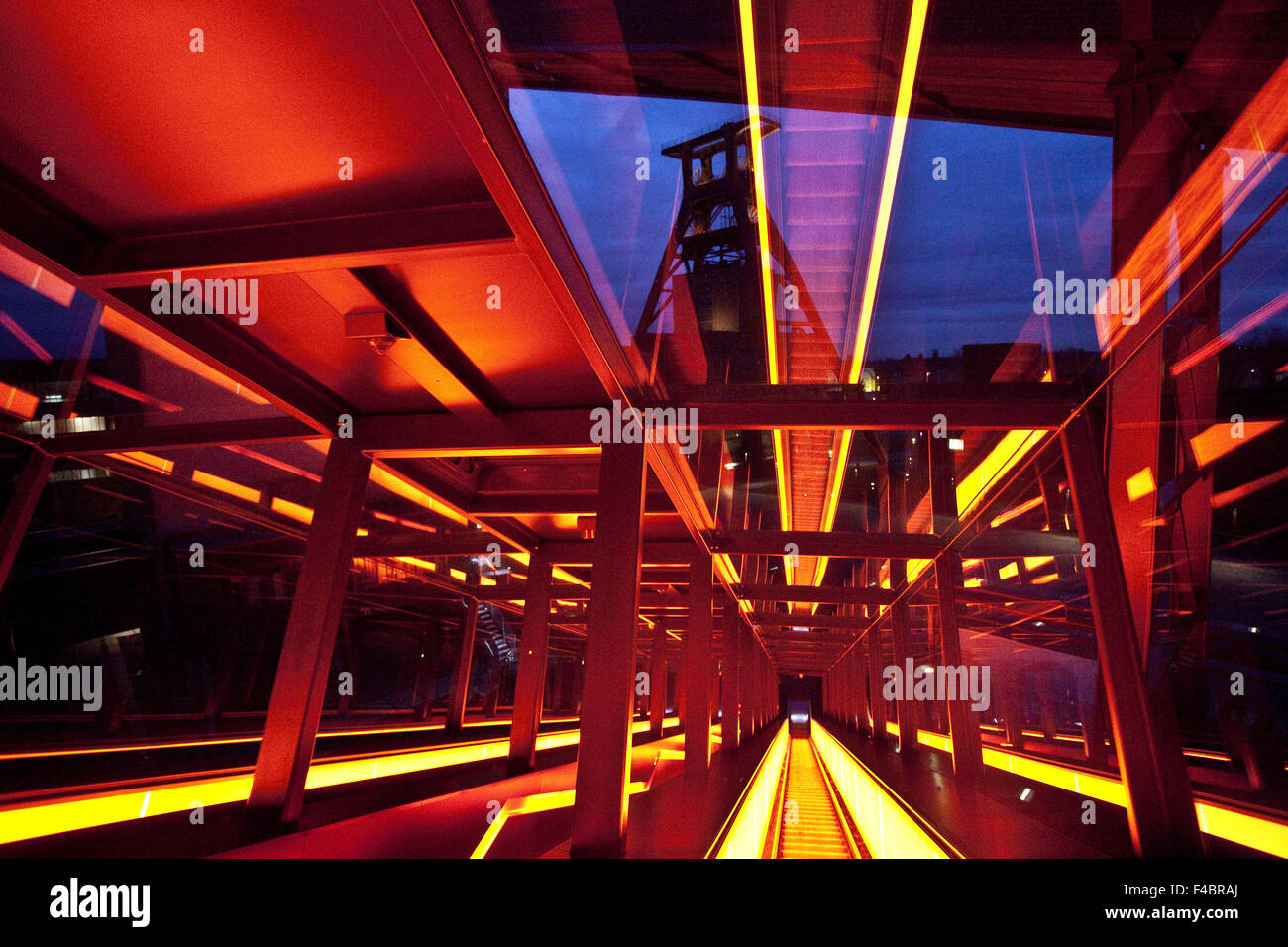 Gangway, Zollverein, Essen, Germany - Stock Image