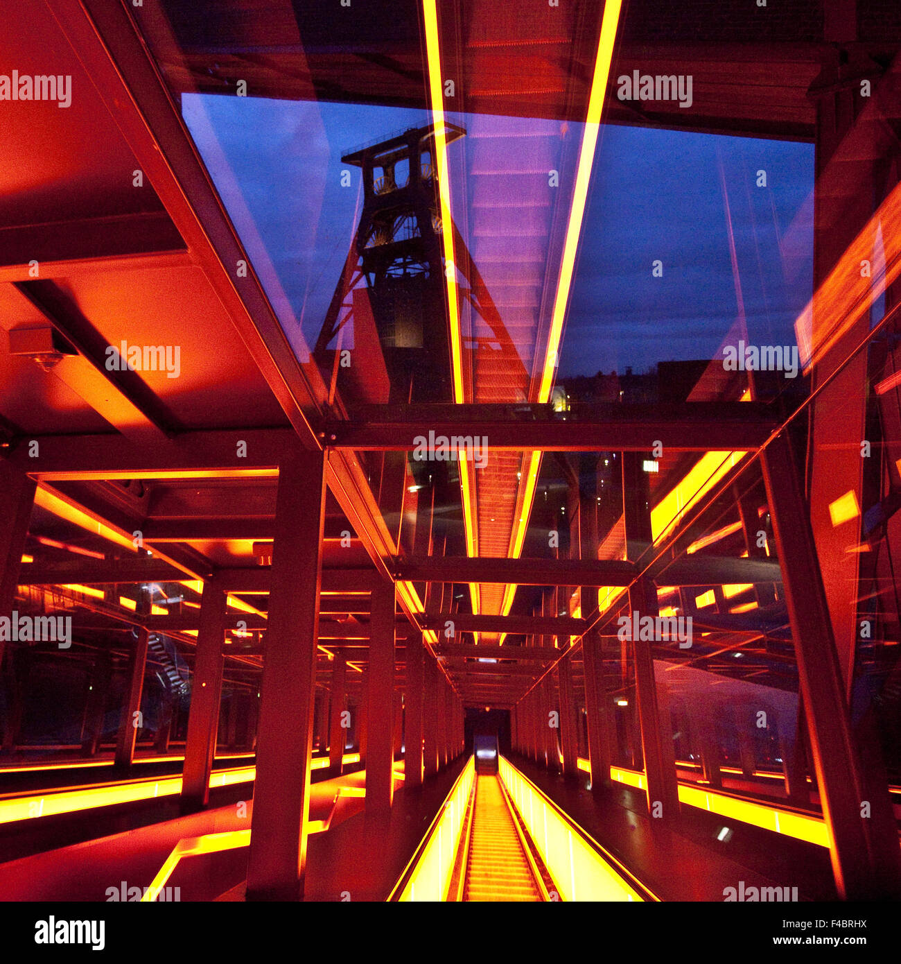 Gangway, Zollverein, Essen, Germany - Stock Image