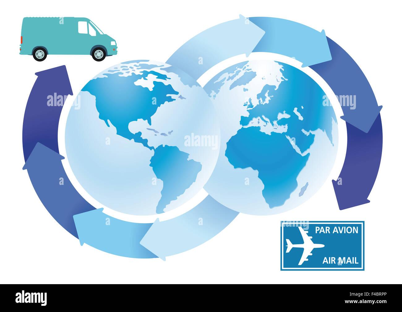 transport forwarding Stock Photo