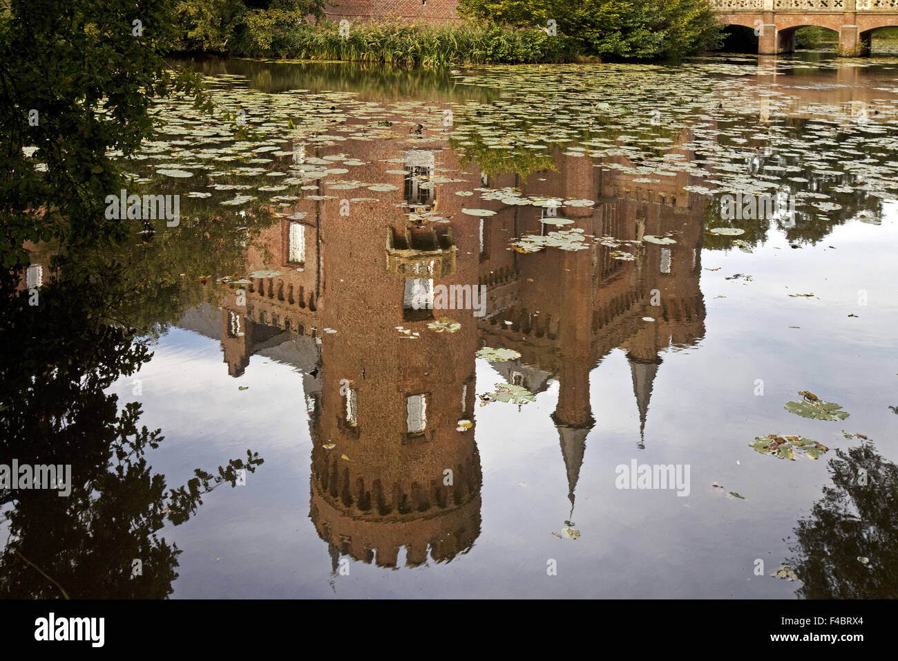 Water Castle Moyland Bedburg Hau, Germany Stock Photo