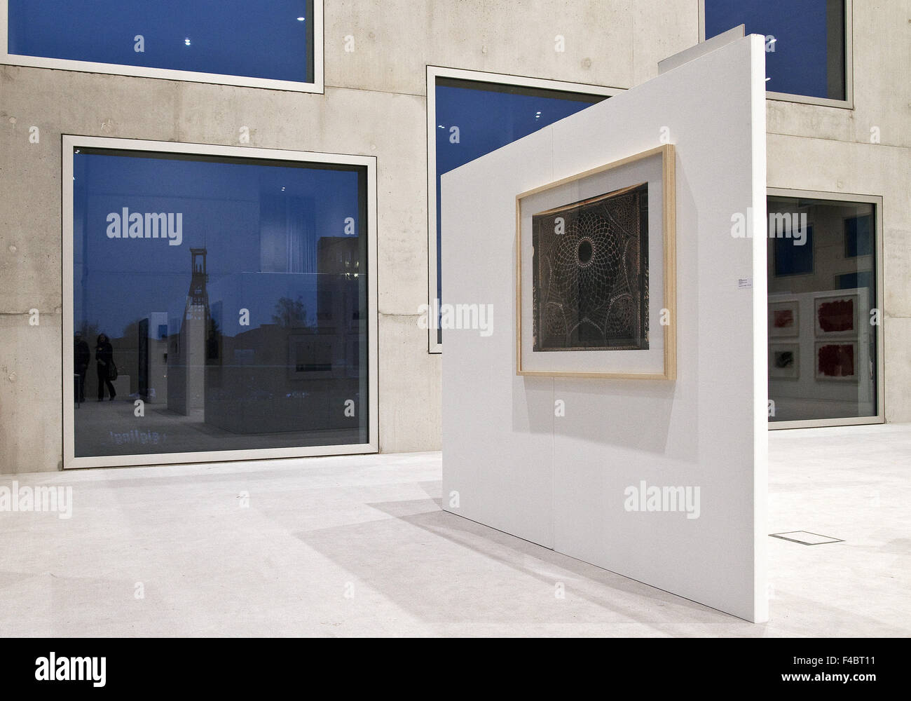 Exhibition, Zollverein cube, Essen, Germany - Stock Image