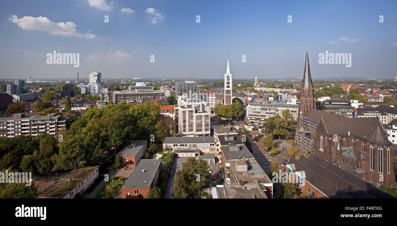Overlooking Gelsenkirchen, Germany - Stock Image