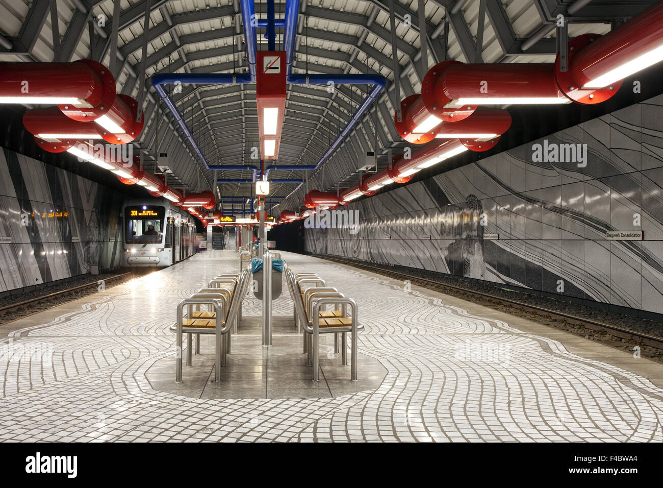 Subway station Consolidation in Gelsenkirchen - Stock Image