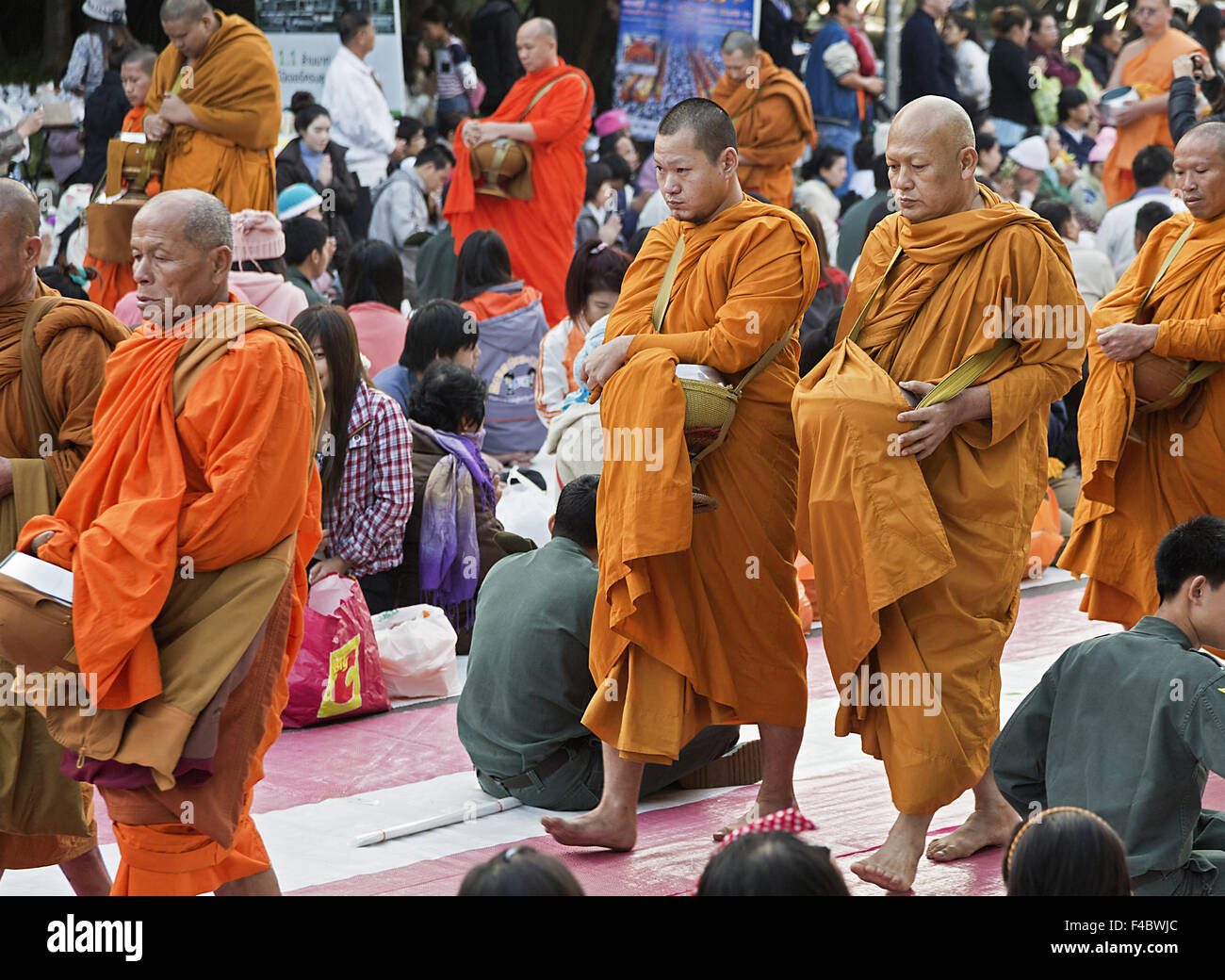 Monks - Stock Image