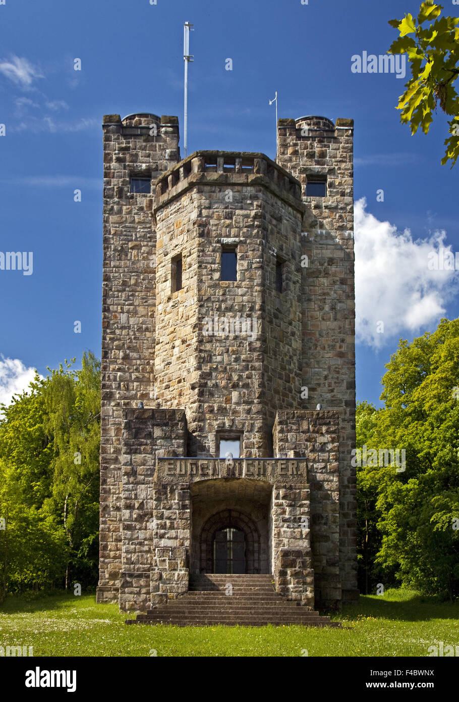 Eugen Richter Tower, Hagen, Germany - Stock Image