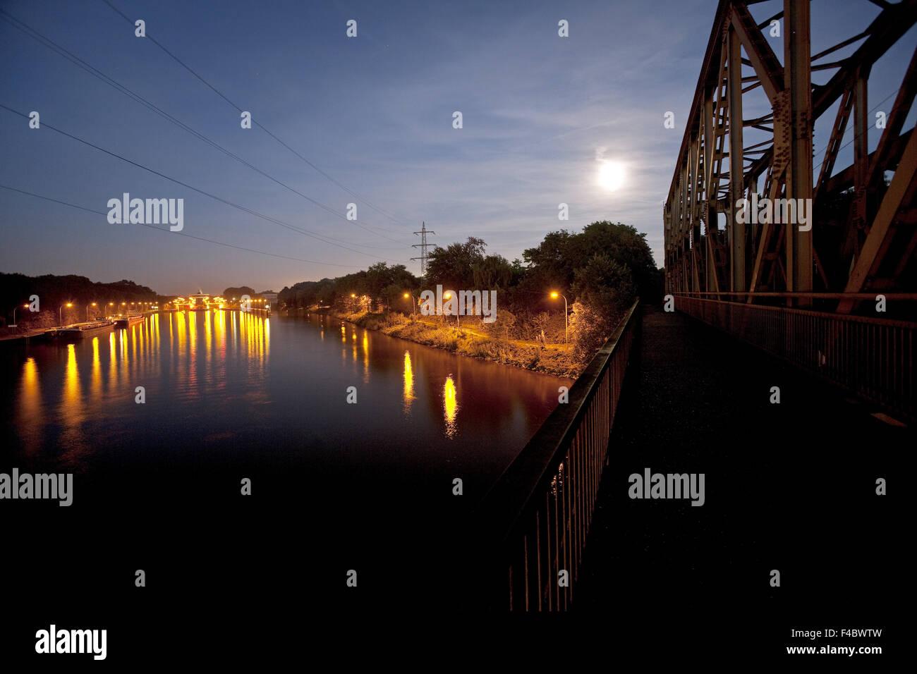 Rhine Herne Canal, Gelsenkirchen, Germany - Stock Image