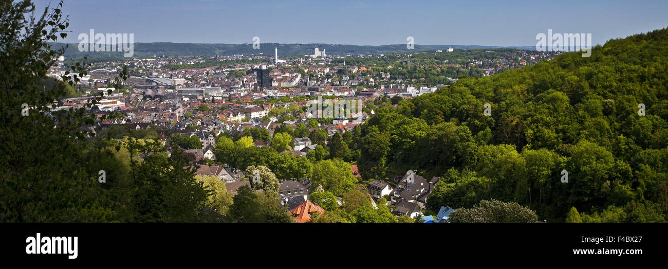 Overview of Hagen, Germany - Stock Image