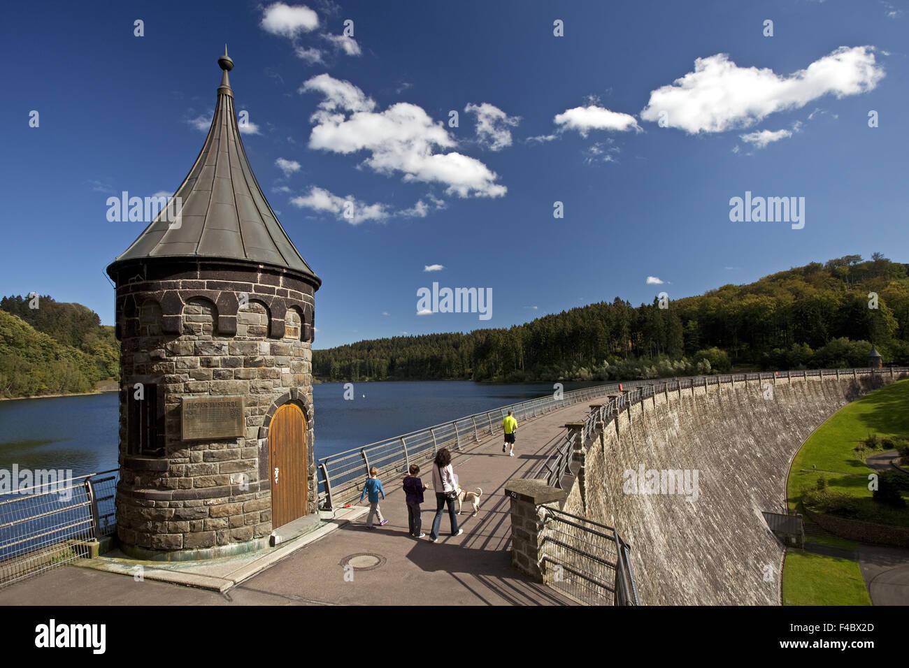 Hasper dam, Hagen, Germany Stock Photo