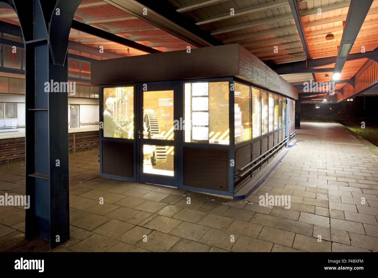 Museum station platform Oberhausen, Germany - Stock Image