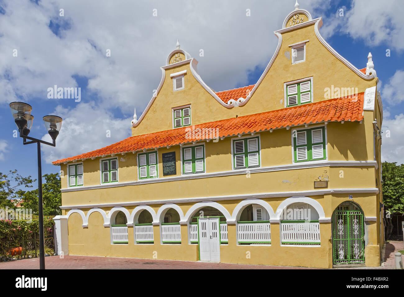 Villa Sebastopol Willemstad Curacao - Stock Image