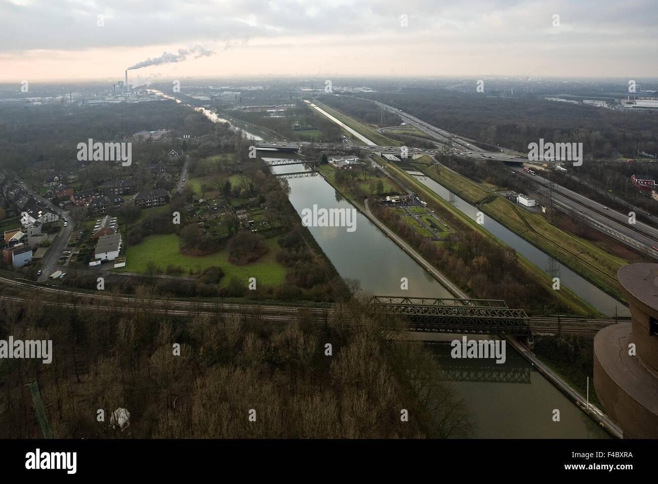 Overlooking Oberhausen, Germany - Stock Image