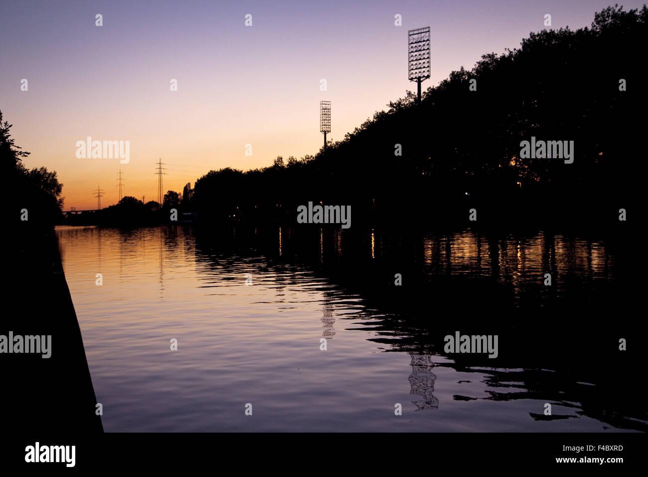 Rhine Herne canal, Oberhausen, Germany - Stock Image