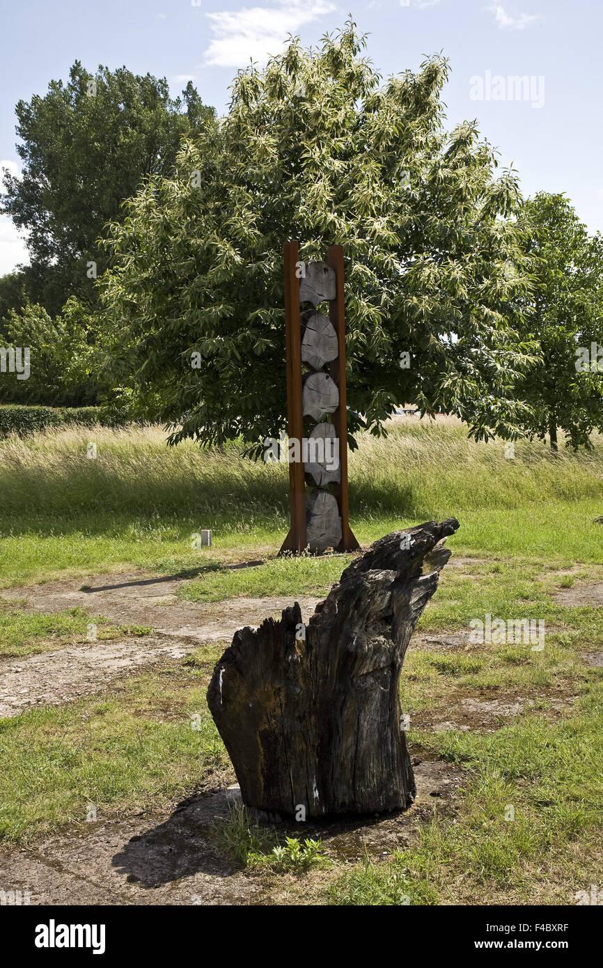 Woodland garden Ripshorst, Oberhausen, Germany - Stock Image