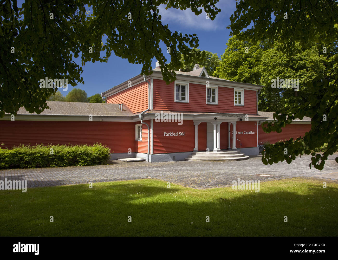 Parkbad South, Castrop-Rauxel, Germany - Stock Image