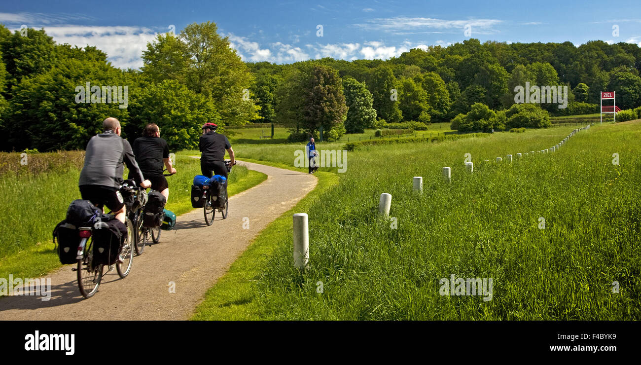 Natural obstacle Racecourse, Castrop-Rauxel Stock Photo