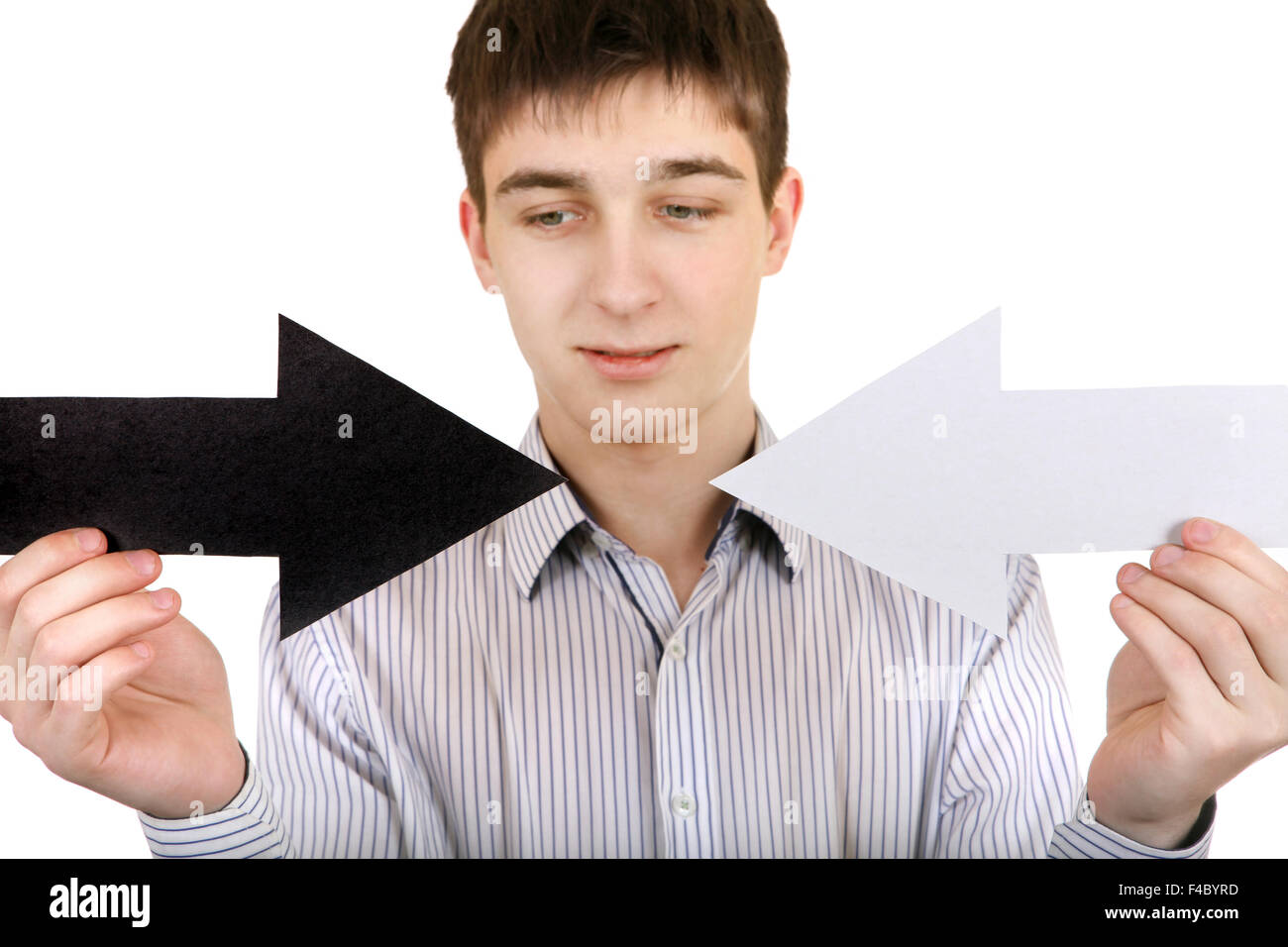 Teenager with Two Arrows - Stock Image