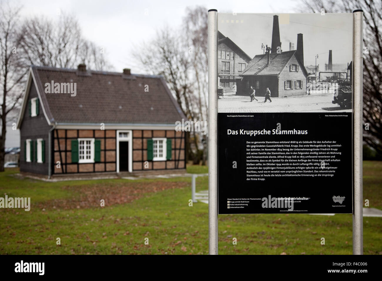 Krupp Stammhaus, Essen, Germany - Stock Image
