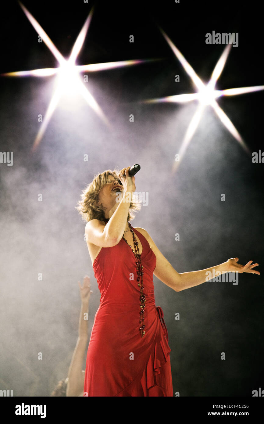 Singer in a musical, Essen, Germany - Stock Image
