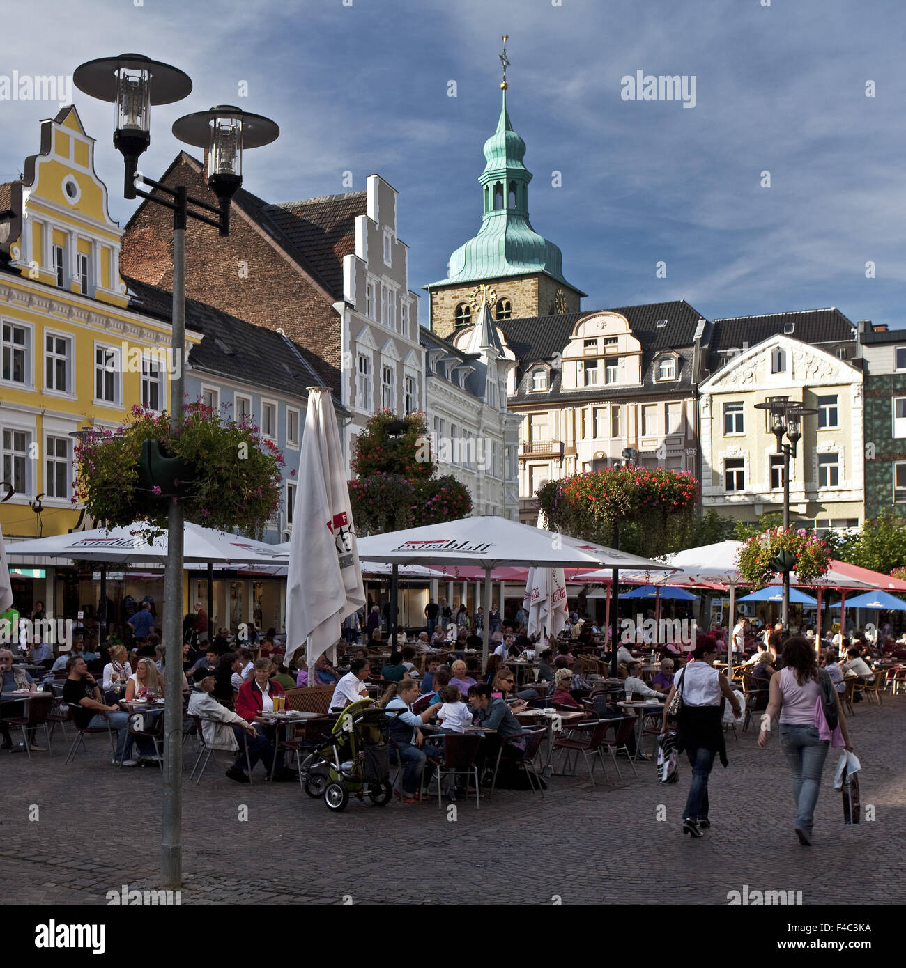 Old Town Market, Recklinghausen, Germany - Stock Image