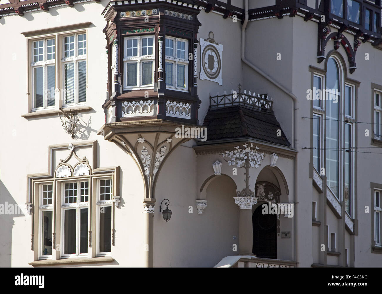 Detail of a house, Recklinghausen, Germany - Stock Image