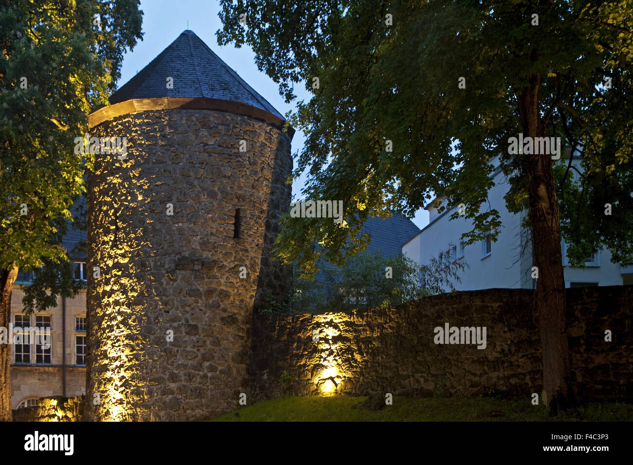 City wall, Recklinghausen, Germany - Stock Image