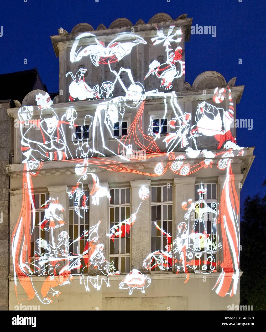 Event LichtRouten, Luedenscheid, Germany - Stock Image