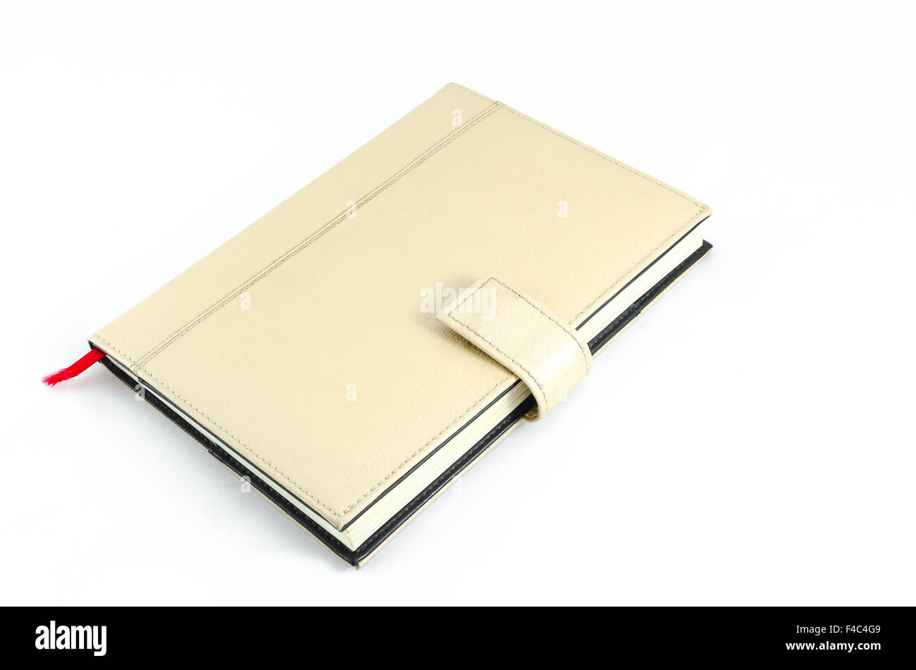 Brown diary on isolate background - Stock Image