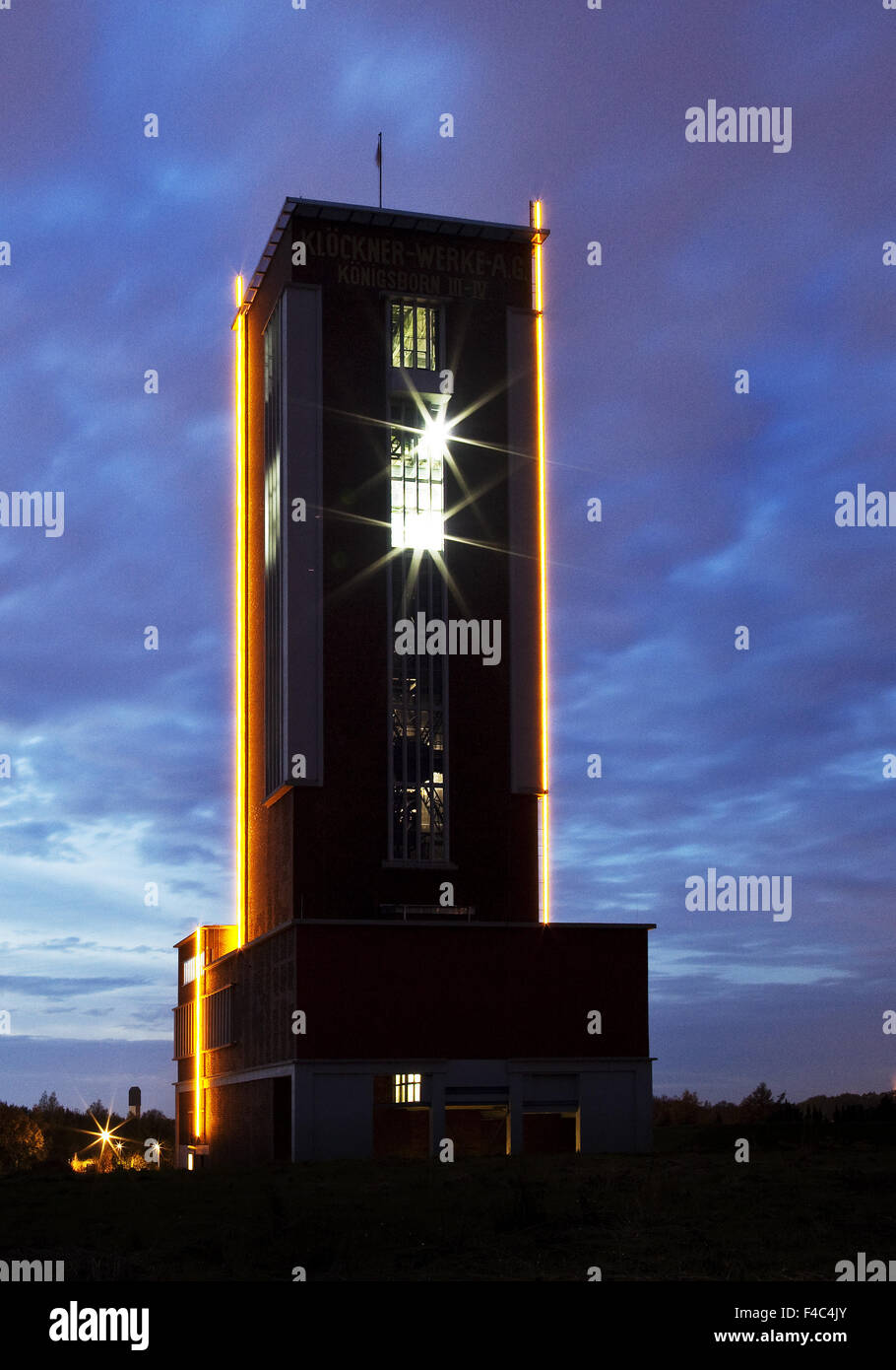 Mining tower Koenigsborn 3/4, Boenen, Germany - Stock Image