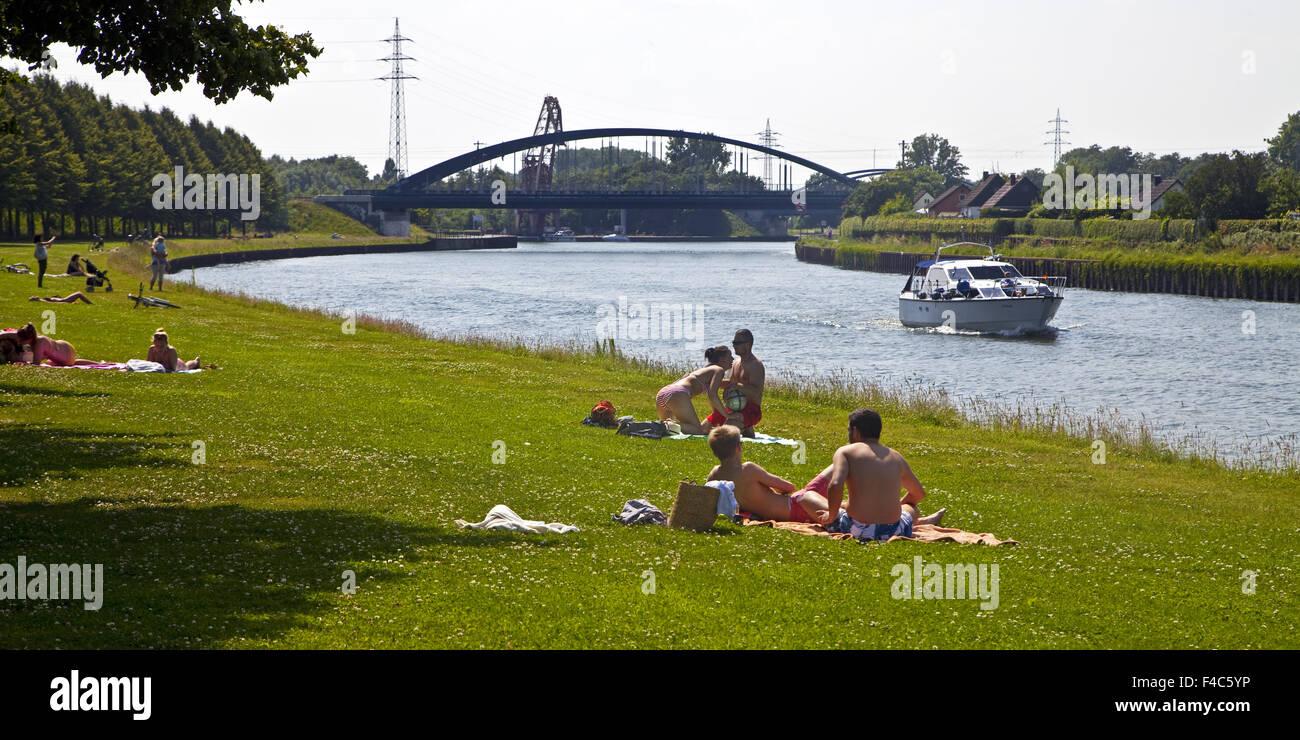Datteln Hamm channel, Luenen, Germany - Stock Image